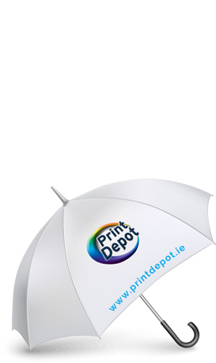 Custom Printing on Umbrella - Branded Promotional Products